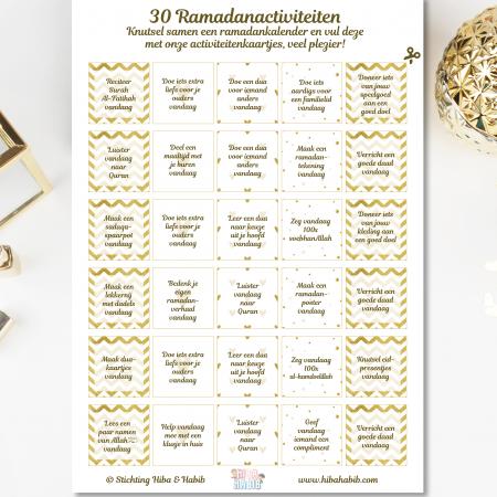Ramadankalender + GRATIS 30 ramadanactiviteiten