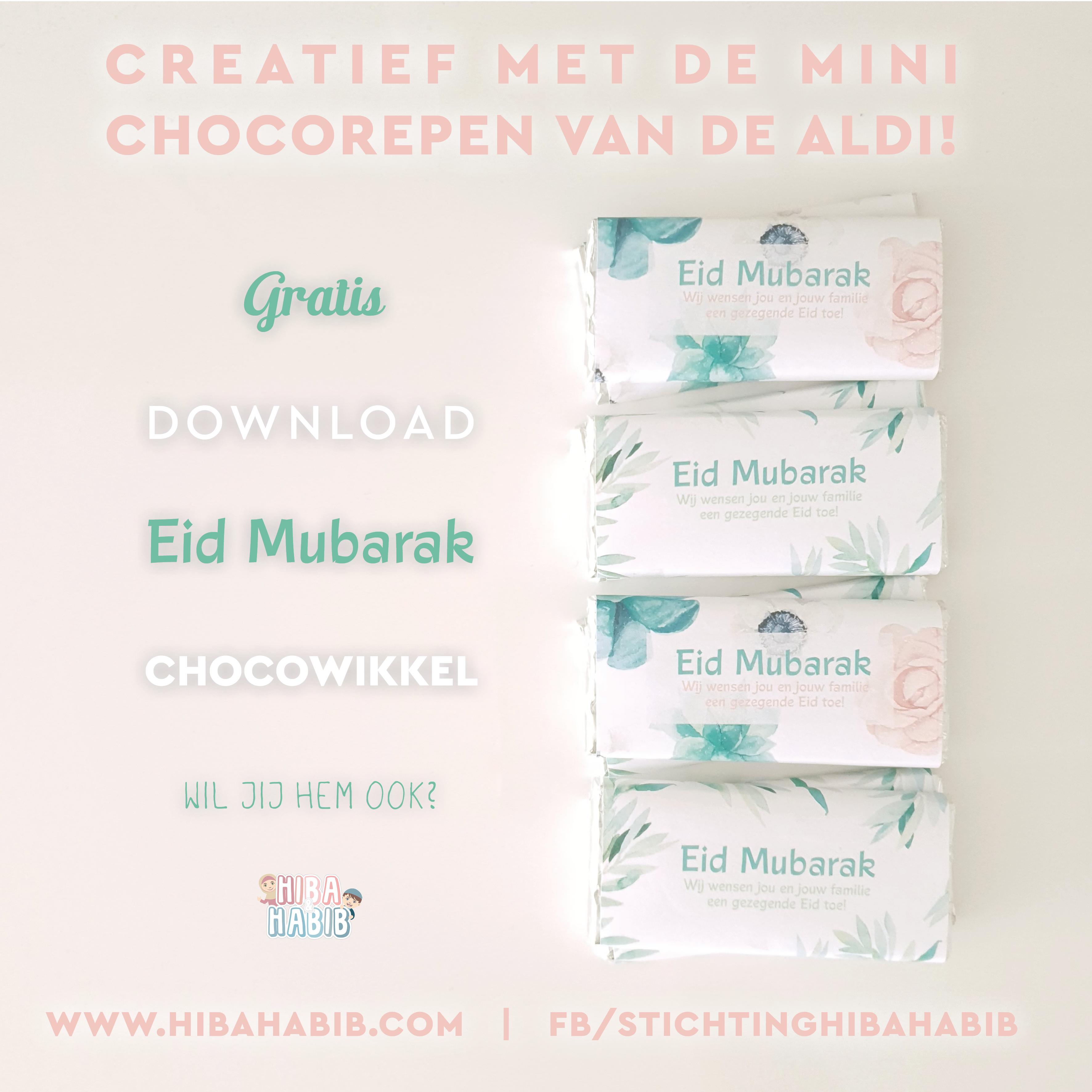 Eid Mubarak chocowikkel (ALDI)