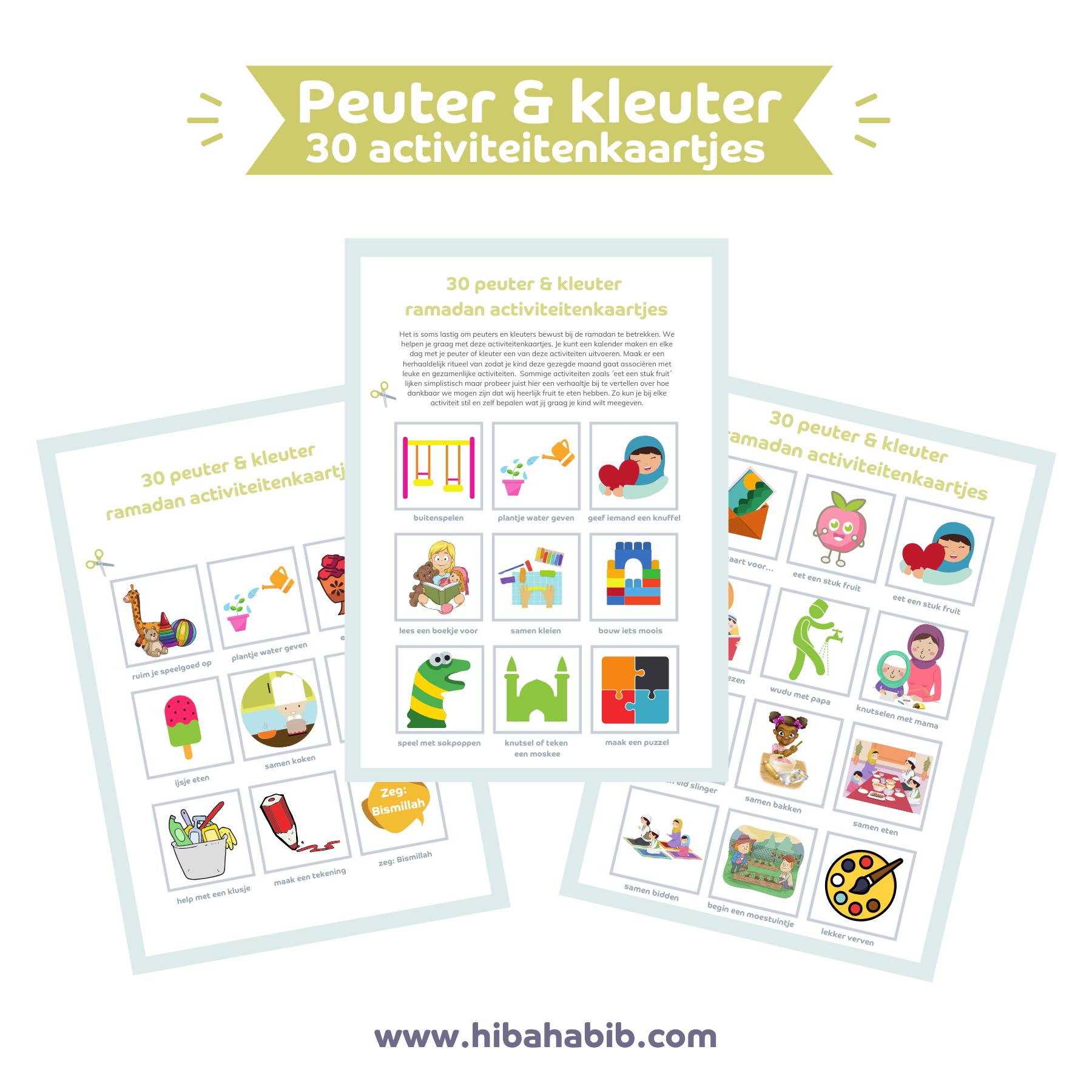 Peuter & kleuter activiteitenkaartjes (ramadan)